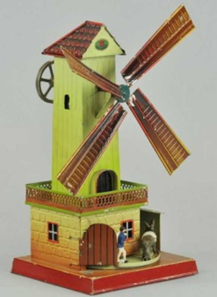 Doll Steam Toys-Drive Models Windmill with No. 743 door opening automatically through tho