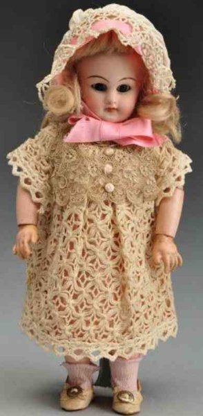 Simon & Halbig Dolls Bisque socket head doll  incised ?749 Dep 3/0. Long tapered