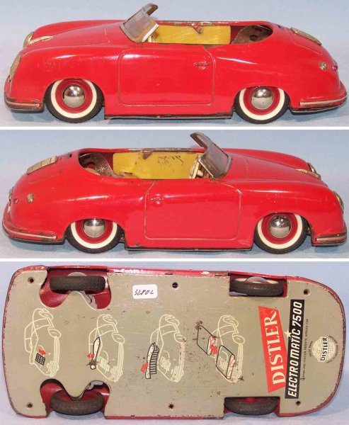 Distler Tin-Cars Classic Porsche 365 Electromatic #7500 in red with windshiel