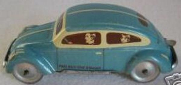 Tippco Tin-Cars Small K.d.F. car lithographed with clockwork for empire moto