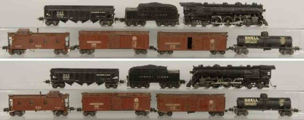 Lionel Railway-Trains Semic-scale freight train set consists of no. 763E Hudson lo