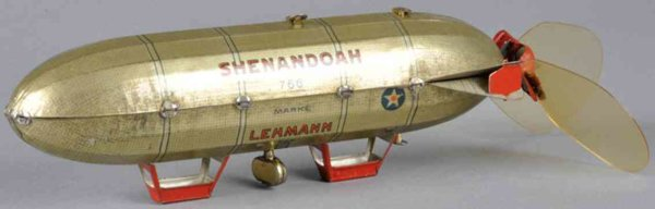 Lehmann Tine Ariplanes Tin wind-up Shenandoah #766 zeppelin original celluloid prop