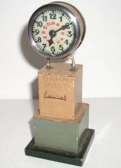 Kibri Railway-Platform Accessories Platform clock with movable pointers on angular base, letter