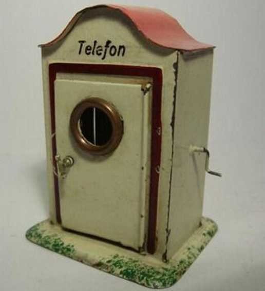 Plank Ernst Railway-Platform-Outhouses Telephone box #927 with interior fitting and crank, door for