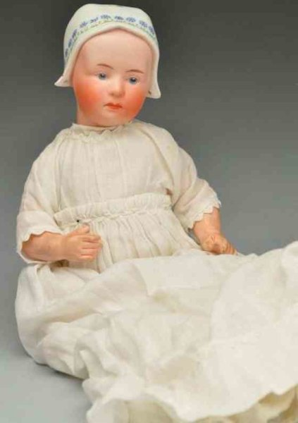 Heubach Gebr. Dolls Bisque socket head character doll Baby Stuart, incised wit