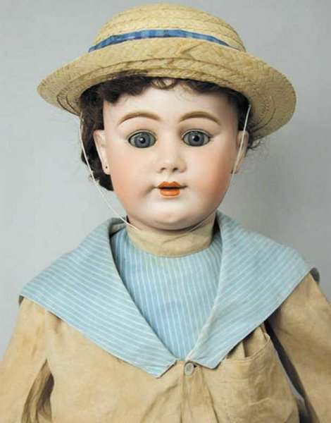 Handwerck Heinrich Dolls Bisque socket head doll, ball jointed composition body. Inci