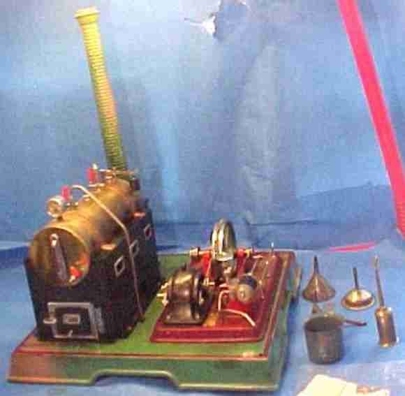 Maerklin Steam Toys-Horizontal Steam Engines Lying steam engine with alternating current magnet-dyna