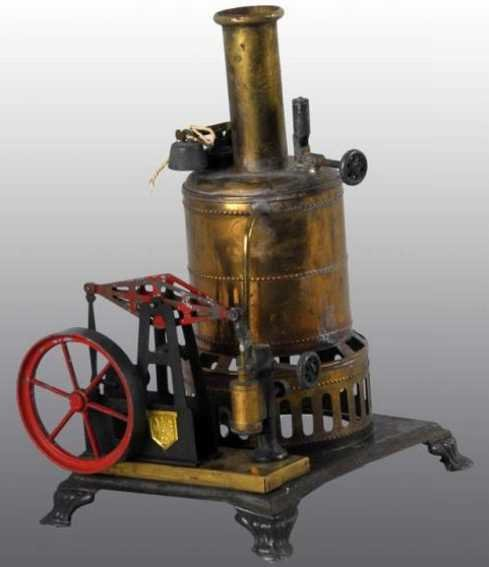 Weeden Steam-Toys-Vertical-Steam-Engines Upright boiler walking beam engine. The engine is mounted o