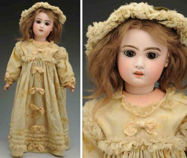 Jumeau Dolls Bisque socket head baby doll, head incised ?8? with red  ?Te