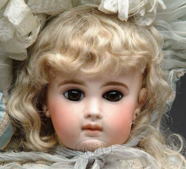 Jumeau Dolls Doll incised on head 8 (over) E.J. BEBE. An outstanding ex