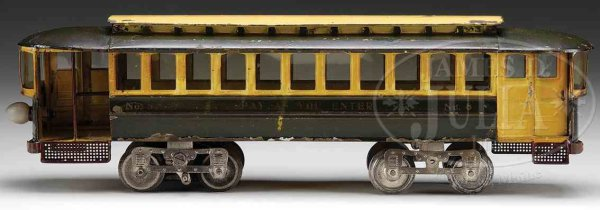 Lionel Railway-Passenger Cars Trolley stenciled on the side of this piece is No. 8 Pay As