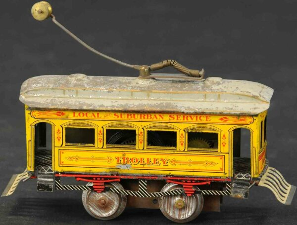 Ives Tin-Trams Clockwork trolley has the body from a princess car with a cl