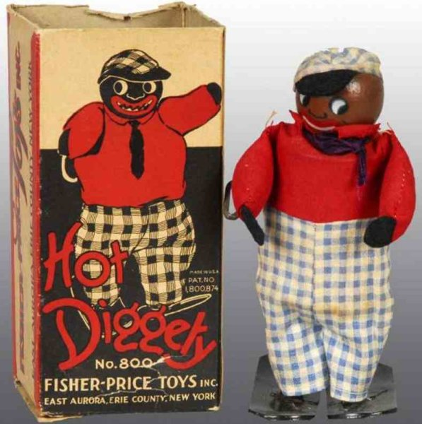 Fisher-Price Wood-Figures Hot Diggity with clockwork