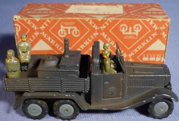 Maerklin Military-Vehicles Truck with field kitchen made of injection-molding, hand-pai