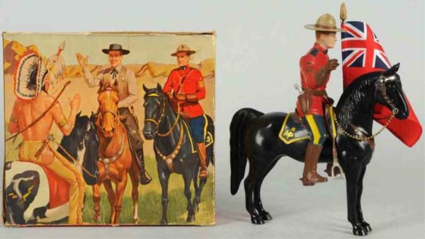 Hartland Celluloid-Figures Sergeant Lance ORourke figure on horse, variation in full p