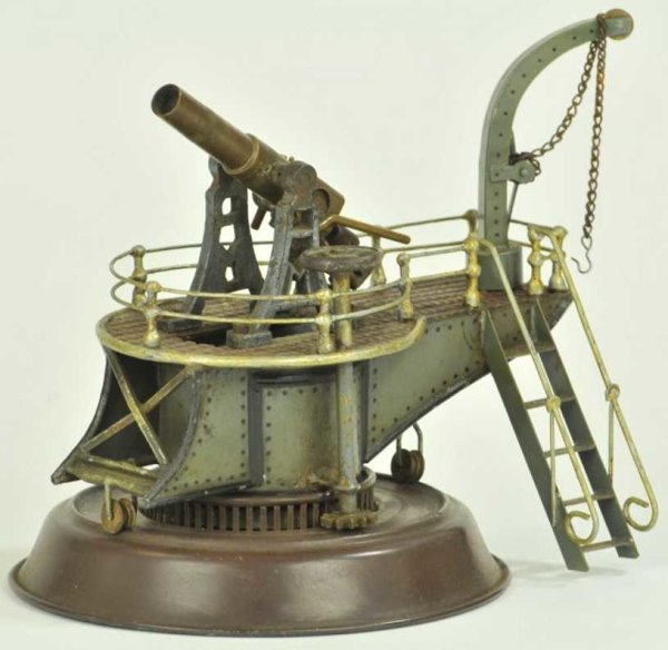Maerklin Military Toys-Arms Costal gun with crane #8048/2 well detailed, stairs to eleva