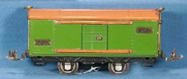 Lionel Railway-Freight Wagons Box car #805.5 with four wheels, with brass ladders and plat
