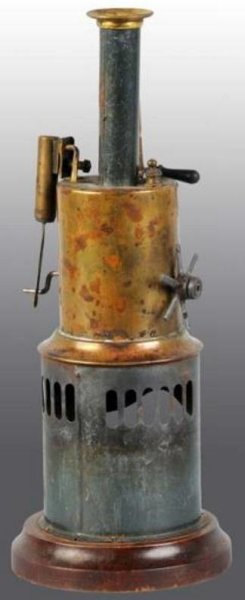 Bing Steam-Toys-Vertical-Steam-Engines Vertical steam engine, this engine was sold by Sears Roebuck