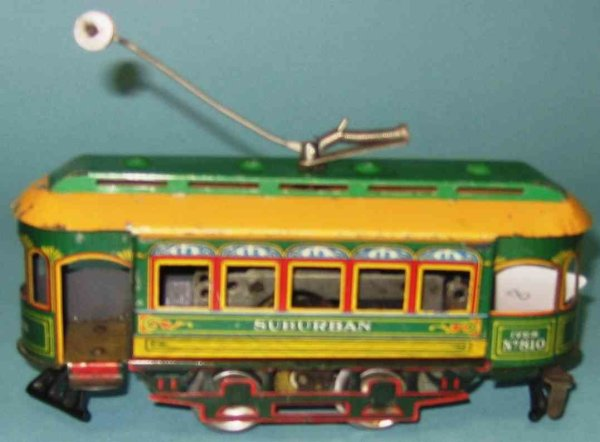 Ives Tin-Trams Clockwork trolley dics wheels and trolley pole and a special