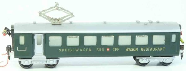 HAG Railway-Passenger Cars Easy express train dining car; 4-axis; in green and silvery;
