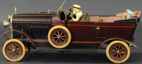 Doll Steam-Vehicles Live steam open tourer automobile No. 819/2 includes a singl