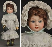 Heubach Gebr. Dolls Bisque socket head character doll,...