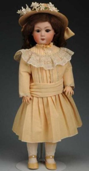 Heubach Gebr. Dolls Bisque head character doll with brown lashed sleeping eyes,