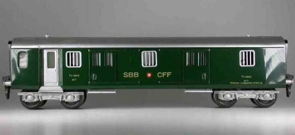 HAG Railway-Passenger Cars Baggage car; 4-axis green, both sides have a 2 sliding door