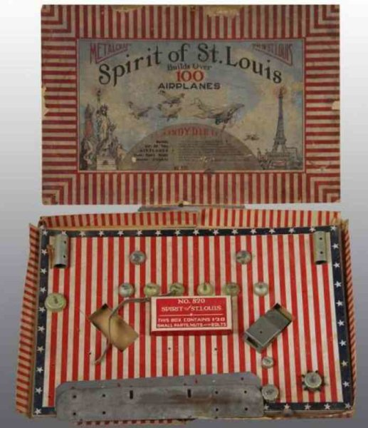 Metalcraft Corp. St Louis Metal Kits Spirit of St. Louis Set. Includes original box with insert a