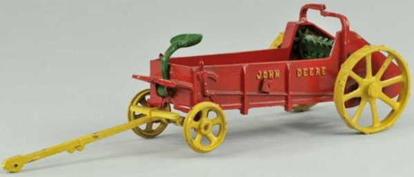 Vindex Cast-Iron Tugs-Rollers McCormick John Deere manure spreader of cast iron open red b