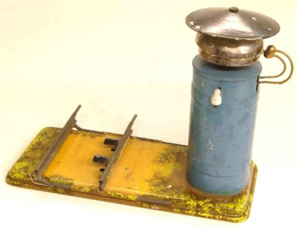 Bing Railway-Bells Signal bell #8353/1 in blue on square base, track can be cha