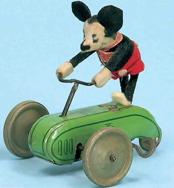 Schuco Tin-Figures Mickey Mouse, clockwork-powered scooter