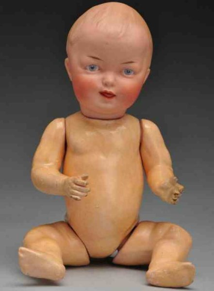 Heubach Gebr. Dolls Bisque socket head character baby doll with Gebr. Heubach sq