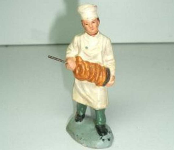 Marolin Railway-Figures Pretzel sales assistant with jacket, the trousers, the apron