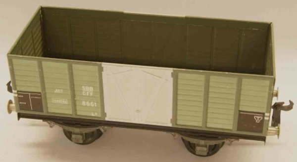 Buco (Bucherer) Railway-Freight Wagons Hopper; 2-axis; in gray, riveted coupling 2