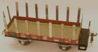 Buco (Bucherer) Railway-Freight Wagons Low shelf car M6...