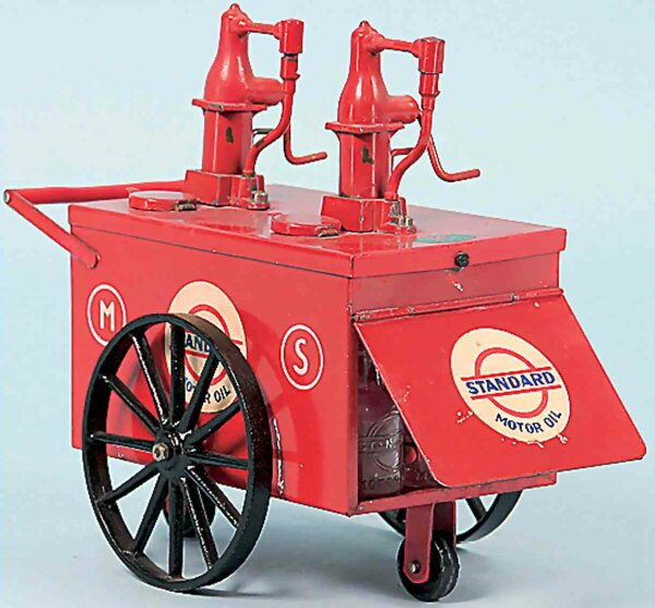 Doll Tin-Toys Petrol pump Standard Motor Oil No. 872, hand coated,  elab