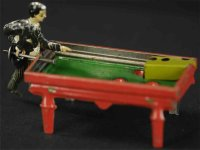 Kellermann Tin-Penny Toy Pool billiard player,...