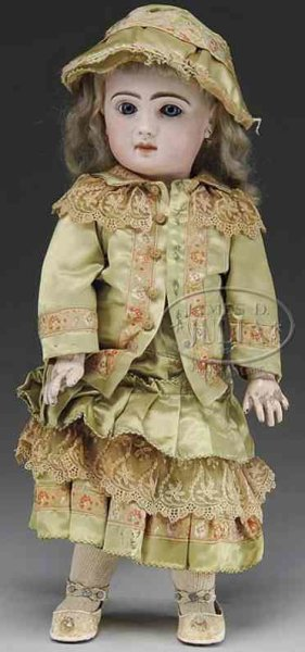 Jumeau Dolls Baby doll with pretty closed-mouth is stamped on the back of