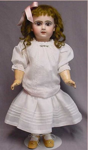 Jumeau Dolls Bisque Head Child Doll -French -Depose Tete Jumeau 9. This w