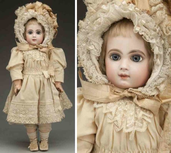 Jumeau Dolls Bisque socekt head baby doll, head incised ?Depose E 9 J? wi