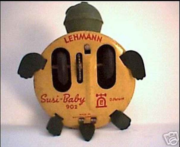 Lehmann Tin-Animals SUSI #902 baby turtle in different versions with flywheel dr