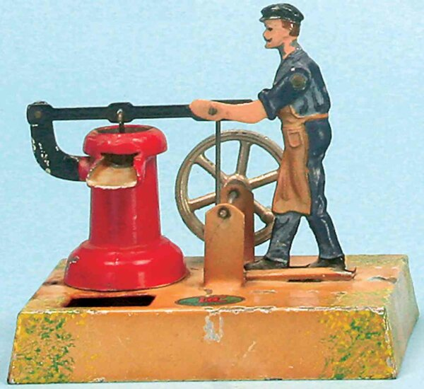 Doll Steam Toys-Drive Models Man Pumping water No. 909 on base