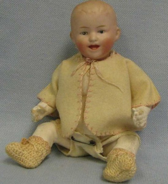 Heubach Gebr. Dolls A sweet laughing face and factory-original outfit make this