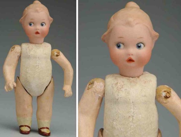 Heubach Gebr. Dolls Bisque socket head character child doll, head with square ma