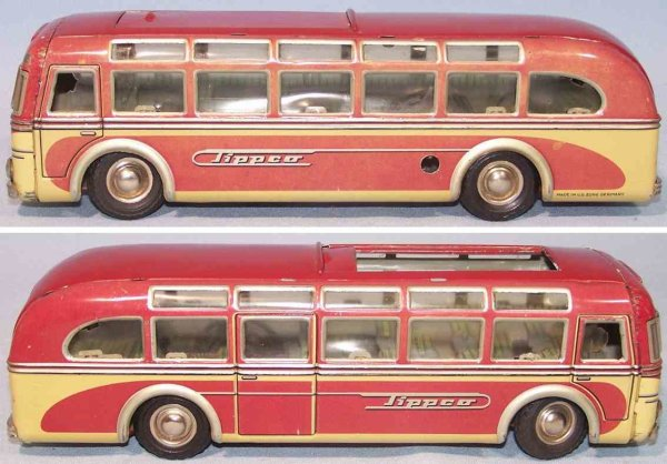 Tippco Tin-Buses Setra coach made of tin, rubber, chrome and plastic, lithogr