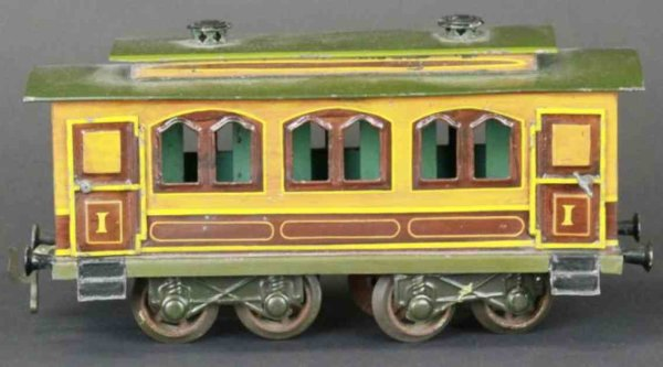 Bing Railway-Passenger Cars Salon car #206 ornate body styling, early example, opening d
