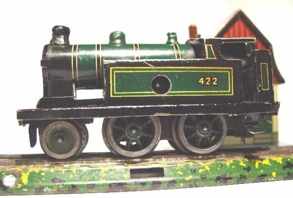 Bub Railway-Locomotives Clockwork-locomotive #923/1. Table railroad gauge 16,5 mm