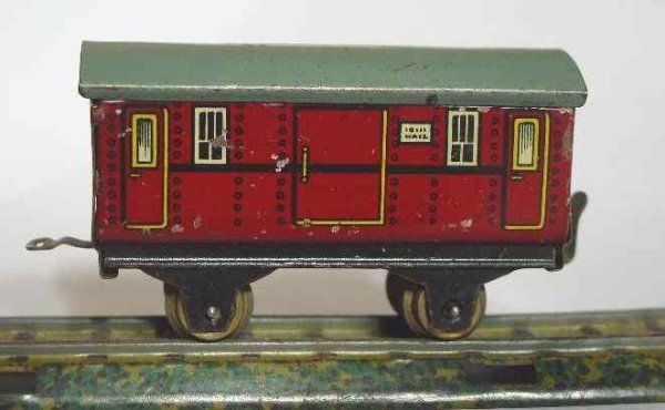 Bub Railway-Passenger Cars Table railroad baggage car #923/5 maroon