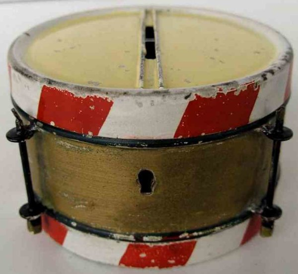Maerklin Tin-Mechanical Banks Saving-can as a drum #9514 of tinplate